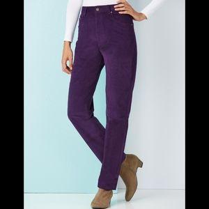 NWT Maui and Sons Ladies Purple Corduroy Pants 10